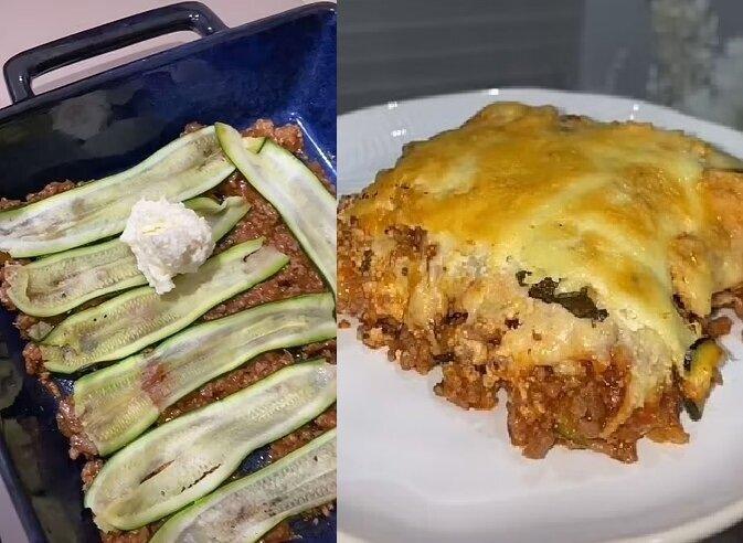 Zucchini-Lasagne. Quelle:dailymail.co.uk