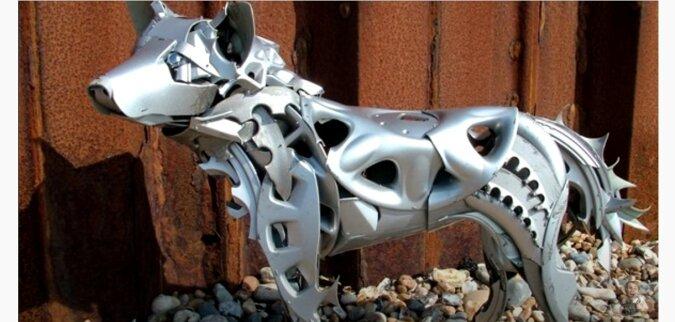Metallskulptur. Quelle: Screenshot YouTube