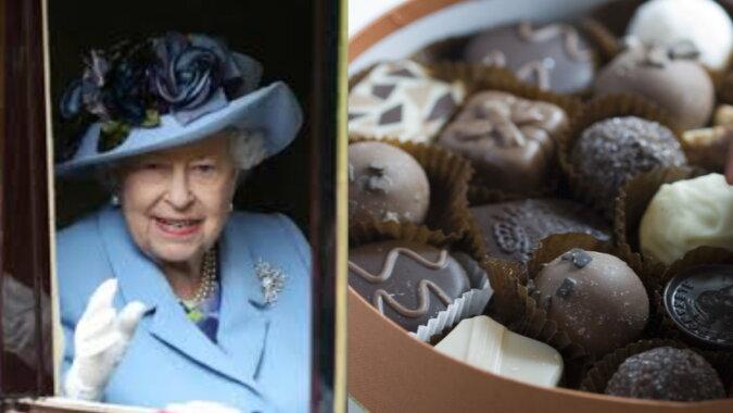 Die Königin und Pralinen. Quelle: esquire