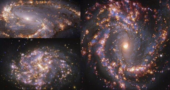 Galaktisches Feuerwerk. Quelle:dailymail.co.uk