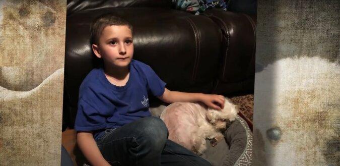 Junge und Hund. Quelle: Screenshot YouTube