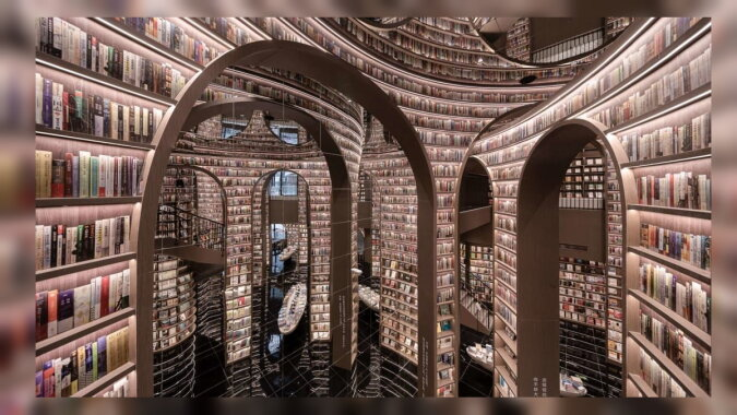 Ein Buchladen in der Stadt Dujiangyan. Quelle: foxtime
