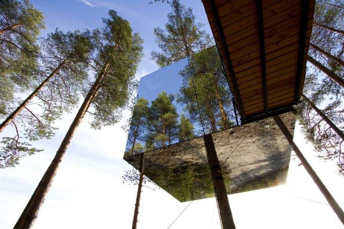 Baumzimmer und arktische Bäder: man nannte die ungewöhnlichsten Hotels der Welt