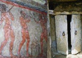Etruskisches Grabfresko. Quelle:dailymail.co.uk