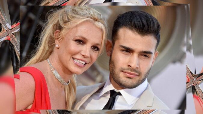 Britney Spears und Sam Asghari. Quelle: harpersbazaar