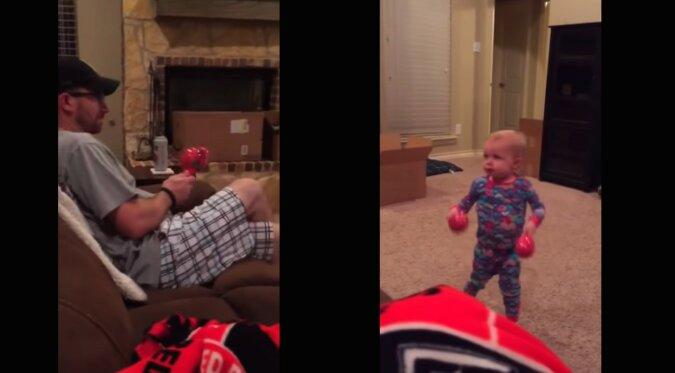 Mann und Baby. Quelle: Screenshot YouTube