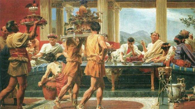Es wurde bekannt, warum die alten Römer im Liegen aßen