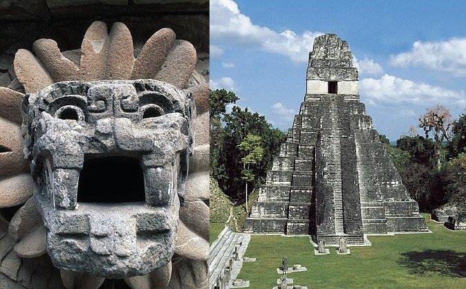 Maya-Stadt Tikal. Quelle:dailymail.co.uk