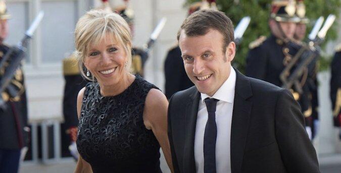 Brigitte und Emmanuel Macron. Quelle: Screenshot YouTube