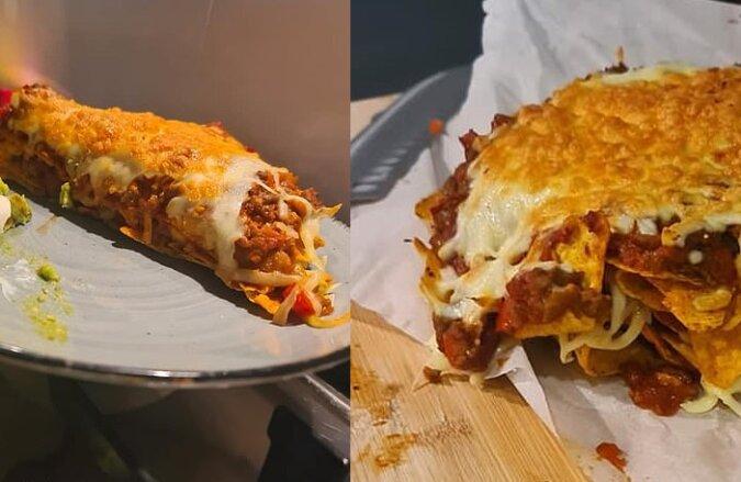 Nachos-Lasagne. Quelle:dailymail.co.uk