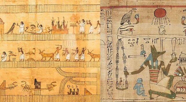 Fragmente altägyptischer Schrift. Quelle:dailymail.co.uk