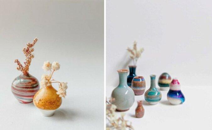 Ein Hobby, das zur Berufung wurde: Eine junge Frau stellt zu Hause winzige Töpferwaren her