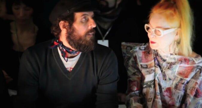 Vivienne Westwood und Andreas Kronthaler. Quelle: Screenshot YouTube