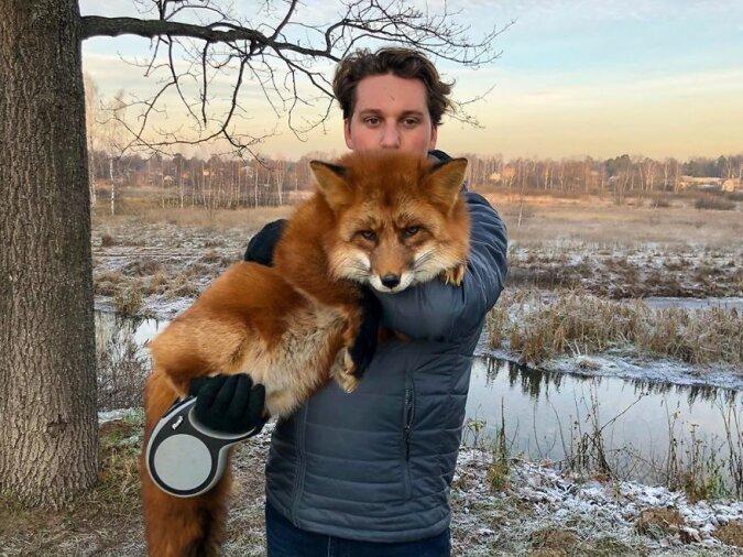 """""""Bester Freund"""": Wie die Freundschaft zwischen einem jungen Mann und einem Fuchs nach einem Abenteuer in einer Pelzfabrik begann"""