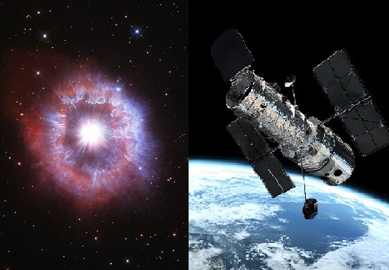 Das Hubble-Teleskop. Quelle:dailymail.co.uk
