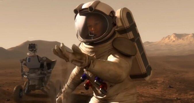 Ein Astronaut. Quelle: Screenshot YouTube