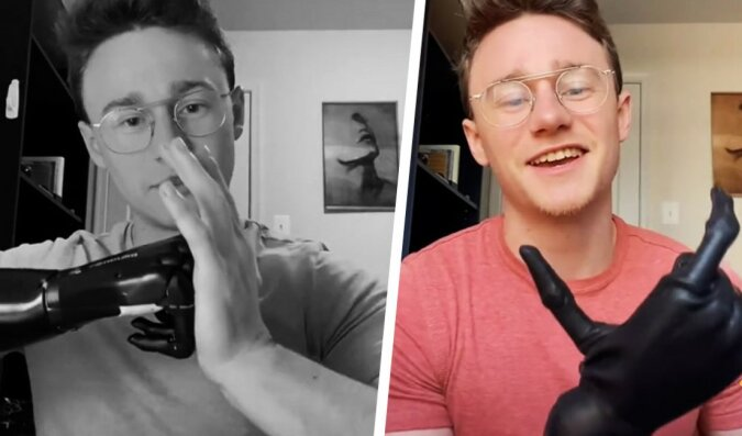Moderne Technologien: Der Junge zeigte, wie er die Prothese mit der Kraft des Denkens steuert
