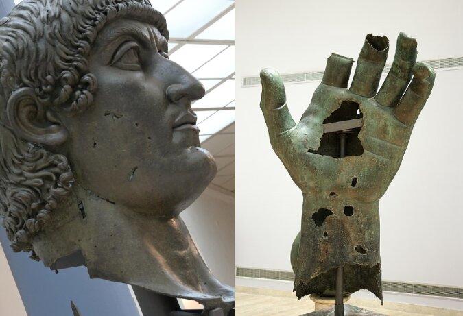 Bronzestatue des Kaisers Konstantin. Quelle:dailymail.co.uk