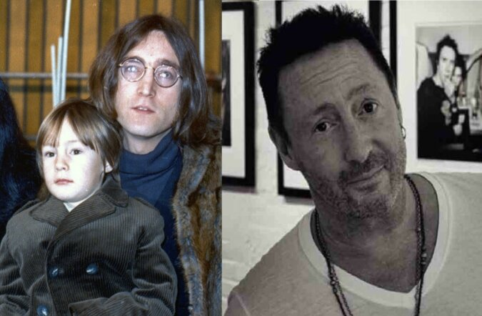 Julian und John Lennon. Quelle:dailymail.co.uk