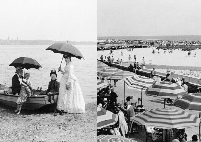 Vintage Fotos am Strand. Quelle:dailymail.co.uk
