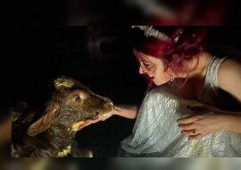 Jessa Laws und das Tier. Quelle: goodnewsnetwork