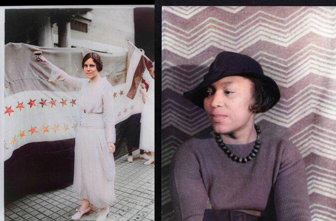 Farbige Bilder von wegweisenden Frauen. Quelle:dailymail.co.uk