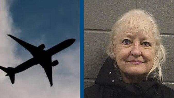 Ein Flugzeug und eine Frau. Quelle: trendymen