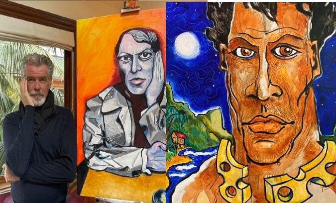 Gemälde von Pierce Brosnan. Quelle:dailymail.co.uk