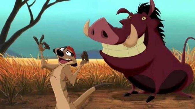 Timon und Pumbaa. Quelle:dailymail.co.uk