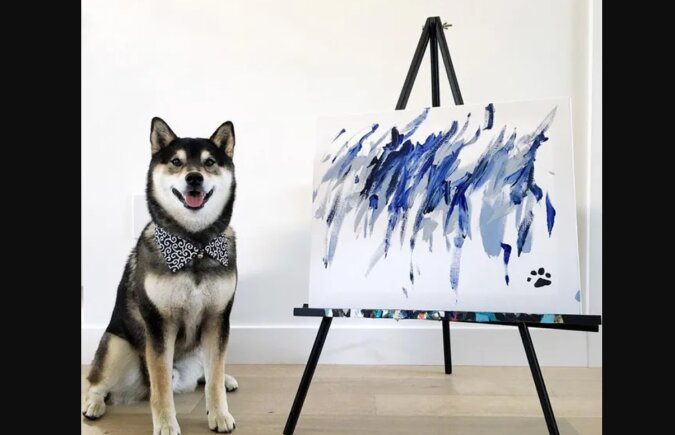 Talentiertes Haustier: Ein Hund verdiente 15 Tausend Euro mit seinen Zeichnungen