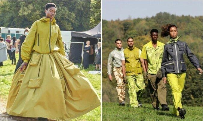 Modenschau im Freien: London Fashion Week auf den Feldern