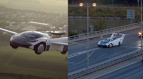 Der AirCar-Prototyp 1. Quelle:dailymail.co.uk