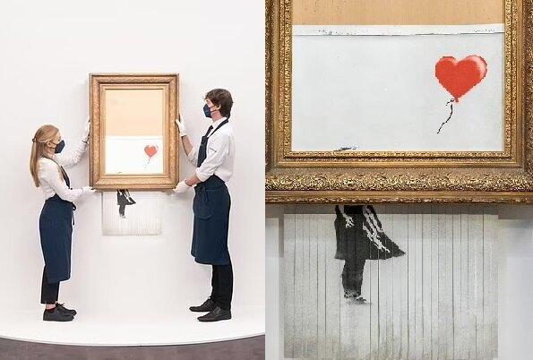 Ein Banksy-Gemälde. Quelle:dailymail.co.uk