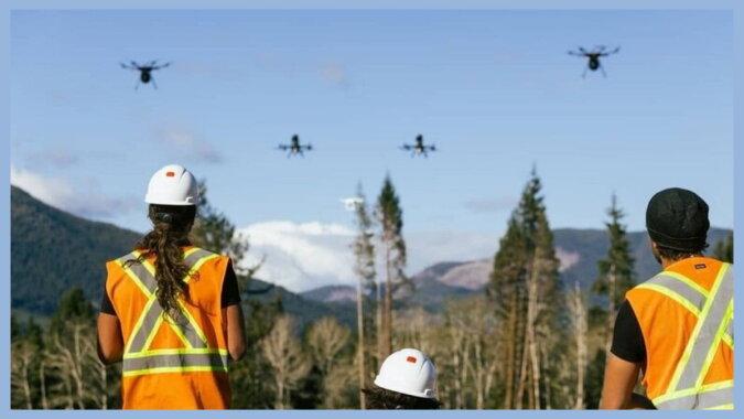 Drohnen im Wald. Quelle: travelask
