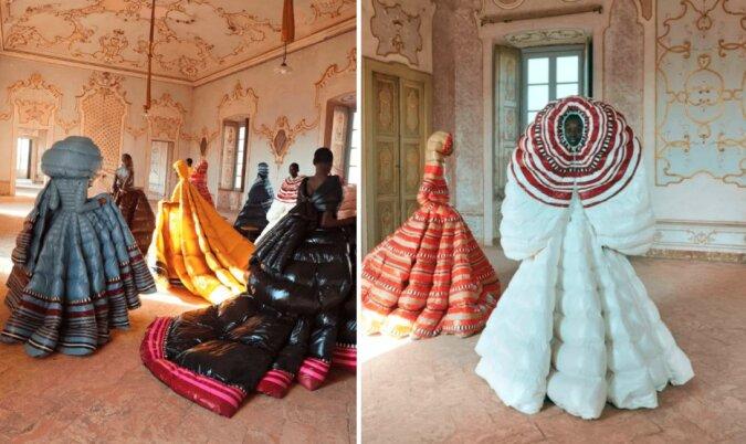 Mode nicht für den Alltag: Designer-Pufferkleider von Valentino