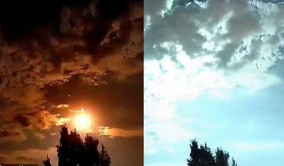 Ein Feuerball am Himmel. Quelle:dailymail.co.uk
