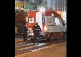 Hundetreue: Ein Hund kletterte in einen Krankenwagen und weigerte sich, seinen Besitzer zu verlassen