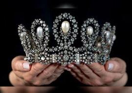 Die Tiara der italienischen Königsfamilie. Quelle: twitter