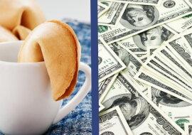 Ein Cookie-Vorhersage und Geld. Quelle: dreamstime