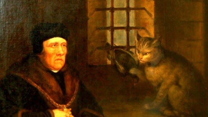 Sir Henry Wyatt und die Katze. Quelle: zen.yandex