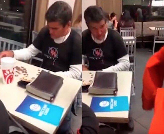 Ein Obdachloser konnte das Mittagessen nicht bezahlen und den Hund nicht füttern, aber fremde Menschen kamen zu Hilfe