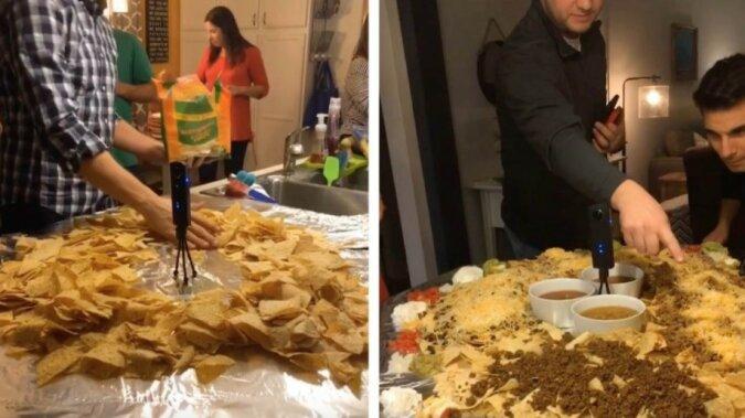 Familientradition: Warum eine Familie den Tisch jeden Sommer mit Nachos bestreut