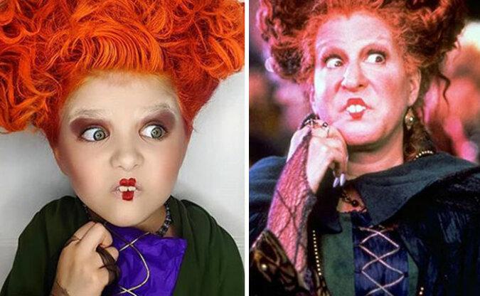 """""""Echte Schauspielerin"""": Mutter kleidete ihre zweijährige Tochter in farbenfrohen Halloween-Kostümen und das Mädchen gewöhnte sich an die Rolle"""