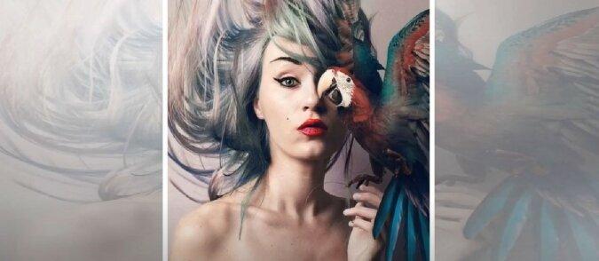 Frau und Papagei. Quelle: Screenshot YouTube