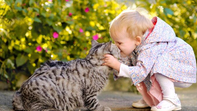 Die Katze und ein kleines Mädchen. Quelle: ivona.bigmir