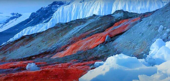Roter Gletscher. Quelle: Screenshot YouTube