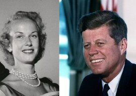 John F. Kennedy und Gunilla von Post. Quelle: dailymail.co.uk