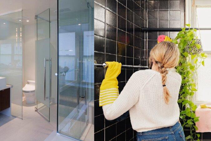 Reinigung der Duschkabine. Quelle:dailymail.co.uk