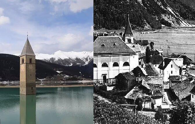 Curon, ein ehemaliges Bergdorf. Quelle:dailymail.co.uk
