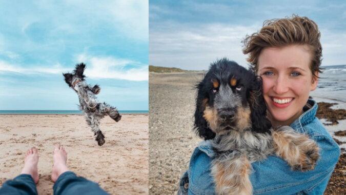 Der Hund mit der Besitzerin. Quelle: instagram
